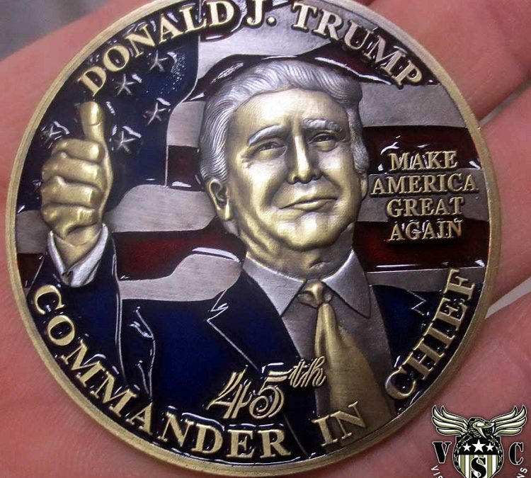 Donald J Trump Inaugural 45th Presidential Coin Unfurled