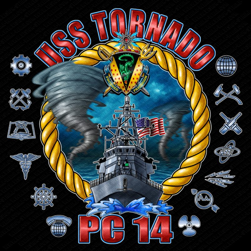 USS Tornado PC14 Shirts